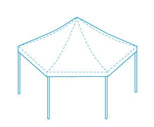 LPTENT Carpa plegable ZP hexagonal