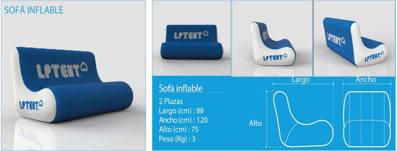 LPTENT Carpas inflables- sofá hinchable