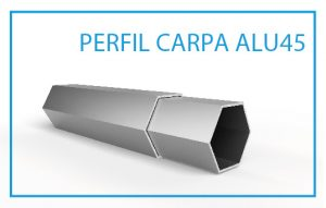 LPTENT Carpas plegables uso cotidiano Alu45- perfil