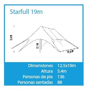 LPTENT Carpas profesionales - Carpa Estrella modelos- 19m