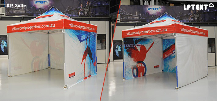 LPTENT Carpa plegable profesional XP-3x3m Personalizada-villawood 2