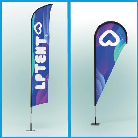 LPTENT Soporte publicitario banderas publicitarias
